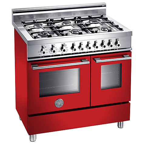 Buy Bertazzoni W906MFE Dual Fuel Range Cooker, Red Online at johnlewis.com