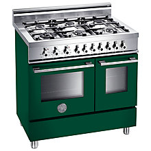 Buy Bertazzoni W906MFE Dual Fuel Range Cooker, Green Online at johnlewis.com