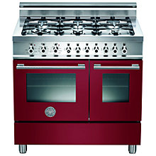 Buy Bertazzoni W906MFE Dual Fuel Range Cooker, Burgundy Online at johnlewis.com