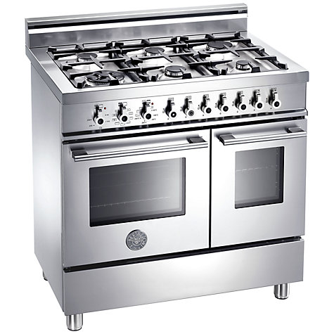 Buy Bertazzoni W906MFEXX Dual Fuel Range Cooker, Stainless Steel Online at johnlewis.com