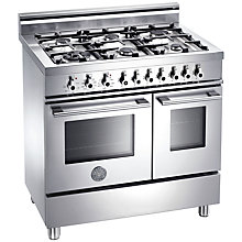 Buy Bertazzoni W906GEVX Dual Fuel Range Cooker, Stainless Steel Online at johnlewis.com