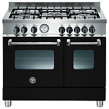 Buy Bertazzoni AD905MFENEE Dual Fuel Range Cooker, Black Online at johnlewis.com