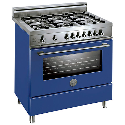 Buy Bertazzoni X906DUALBL Dual Energy Range Cooker, Blue Online at johnlewis.com