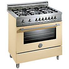 Buy Bertazzoni X906DUALCR Dual Energy Range Cooker, Cream Online at johnlewis.com