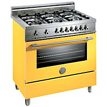 Buy Bertazzoni X906DUALGI Dual Energy Range Cooker, Yellow Online at johnlewis.com