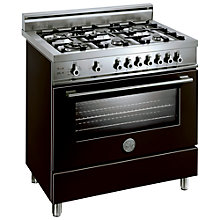 Buy Bertazzoni X906DUALNE Dual Energy Range Cooker, Black Online at johnlewis.com