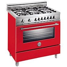 Buy Bertazzoni X906DUALRO Dual Energy Range Cooker, Red Online at johnlewis.com