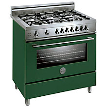 Buy Bertazzoni X906DUALVE Dual Energy Range Cooker, Green Online at johnlewis.com