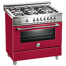 Buy Bertazzoni X906DUALVI Dual Energy Range Cooker, Burgundy Online at johnlewis.com