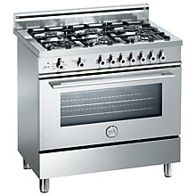 Buy Bertazzoni X906DUALX Dual Energy Range Cooker, Stainless Steel Online at johnlewis.com