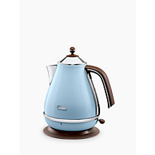 Buy De'Longhi Vintage Icona Kettle and 4-Slice Toaster, Azure Blue Online at johnlewis.com