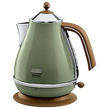 Buy De'Longhi Vintage Icona Kettle and 4-Slice Toaster, Olivia Green Online at johnlewis.com