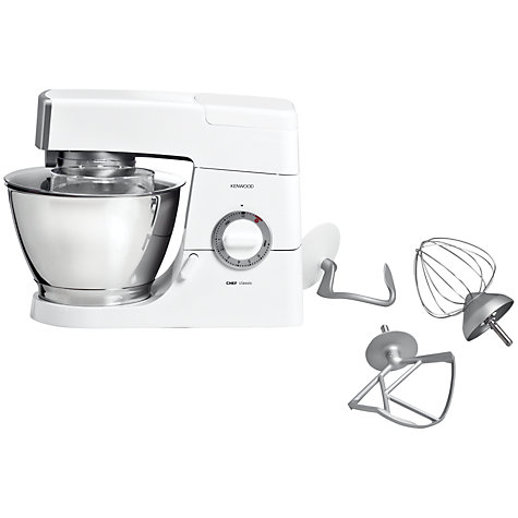 Buy Kenwood KM336 Chef Classic Stand Mixer, White Online at johnlewis.com
