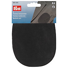 Buy Prym Iron On Patches, Black Leather Online at johnlewis.com