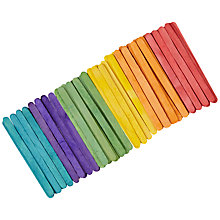 Buy John Lewis Coloured Wooden Craft Sticks, Pack of 100 Online at johnlewis.com