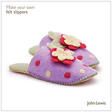 Buy John Lewis Make Your Own Felt Slippers Kit Online at johnlewis.com