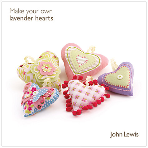 Buy John Lewis Make Your Own Lavender Hearts Kit Online at johnlewis.com