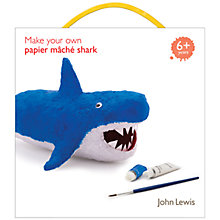 Buy John Lewis Make Your Own Paper Mâché Shark Kit Online at johnlewis.com