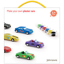 Buy John Lewis Make Your Own Plaster Cars Kit Online at johnlewis.com