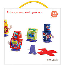 Buy John Lewis Make Your Own Wind Up Robots Kit Online at johnlewis.com