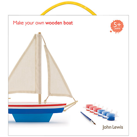 Buy John Lewis Make Your Own Wooden Boat Kit Online at johnlewis.com