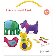 Buy John Lewis Make Your Own Felt Friends Kit Online at johnlewis.com