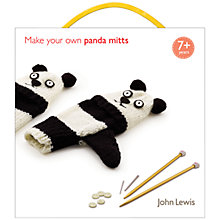 Buy John Lewis Knit Your Own Panda Mitts Kit Online at johnlewis.com