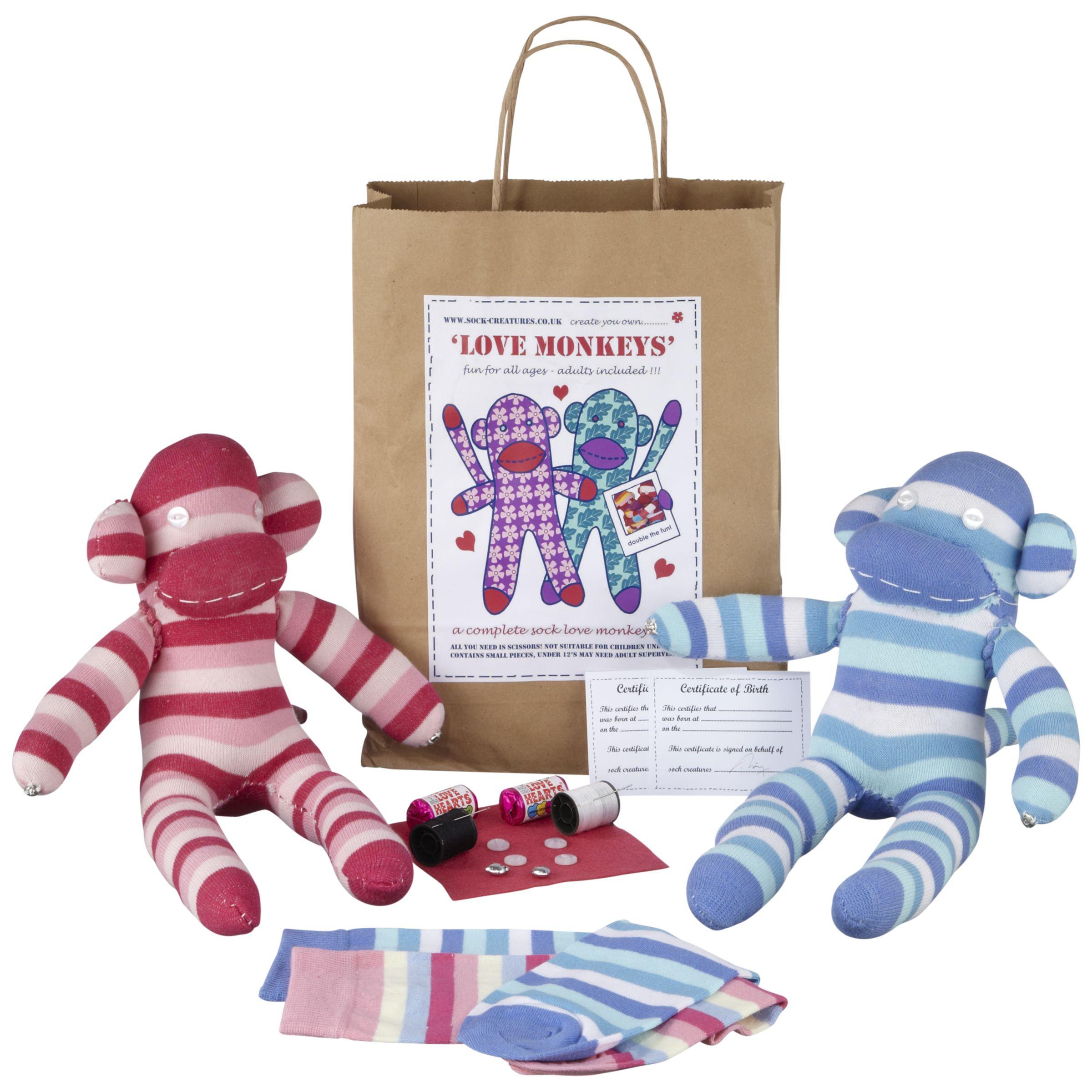Sock Creatures Sock Creatures Love Monkeys Kit