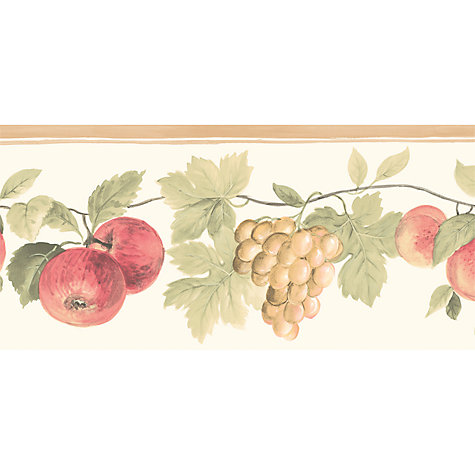 Buy Galerie Fruit Kitchen Wallpaper Border, Natural, Kc78350dc Online at johnlewis.com