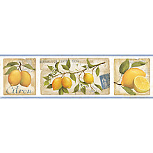Buy Galerie Aquarius Lemons Kitchen Wallpaper Border Online at johnlewis.com