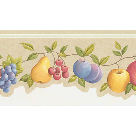 Buy Galerie Vine Fruit Kitchen Border, Co77191dc Online at johnlewis.com