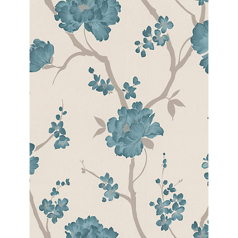 Buy Graham & Brown Love Letter Wallpaper, Teal, 50-105 Online at johnlewis.com