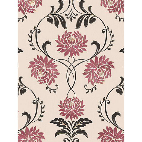 Buy Graham & Brown Petal Wallpaper, Red/Cream Online at johnlewis.com