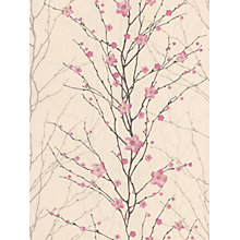 Buy Graham & Brown Vitality Floral Wallpaper, Pink/Cream, 50-017 Online at johnlewis.com