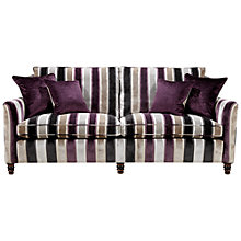 Buy Duresta Camden Large Sofa, Promenade Stripe in Lilac/ Stone Online at johnlewis.com