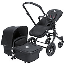 Buy Bugaboo Cameleon3 Pushchair, All Black, Special Edition Online at johnlewis.com
