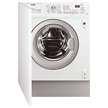 Buy AEG L61271BI Integrated Washing Machine, 7kg Load, A++ Energy Rating, 1200rpm Spin Online at johnlewis.com