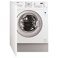 Buy AEG L61470WDBI Integrated Washer Dryer, 7kg Wash/4kg Dry Load, B Energy Rating, 1400rpm Spin Online at johnlewis.com