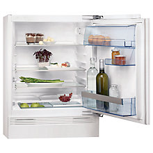 Buy AEG SKS58200F0 Built Under Larder Fridge, A+ Energy Rating, 60cm Wide Online at johnlewis.com