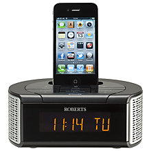 Buy ROBERTS iDream 2 DAB/FM Clock Radio with iPod Dock Online at johnlewis.com