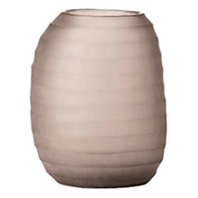 Buy Donna Karan Artisan Glass Icicle Barrel Vase, Carved Online at johnlewis.com
