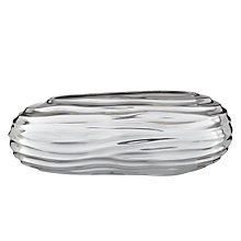 Buy Donna Karan Sculpted Metal Low Barrel Vase Online at johnlewis.com