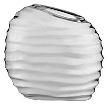 Buy Donna Karan Sculpted Metal Round Barrel Vase Online at johnlewis.com