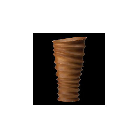 Buy Donna Karan Rippled Wood Tall Flared Vase, Natural Online at johnlewis.com
