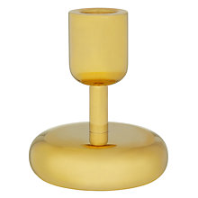 Buy Iittala Nappula Candle Holder, 10.7cm, Brass Online at johnlewis.com