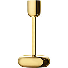 Buy Iittala Nappula Candle Holder, 18.3cm, Brass Online at johnlewis.com