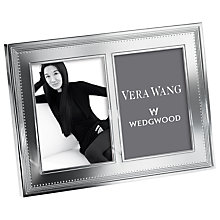 Buy Vera Wang for Wedgwood Grosgrain Double Photograph Frame Online at johnlewis.com