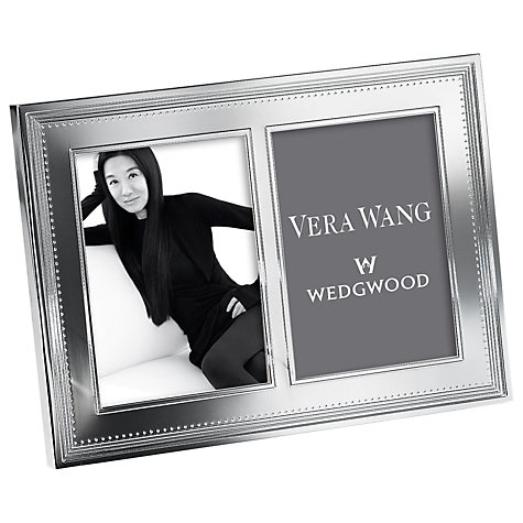 "Buy Vera Wang for Wedgwood Grosgrain Double Photo Frame, 5 x 7"" (13 x 18cm) Online at johnlewis.com"