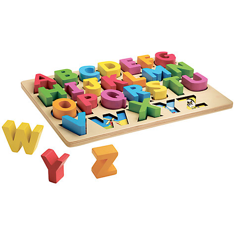 Buy John Lewis Chunky Wooden ABC Puzzle Online at johnlewis.com