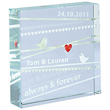 Buy Spaceform Always and Forever Personalised Paperweight Online at johnlewis.com